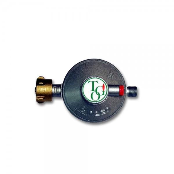 """Gasregler Niederdruck 50mbar - 1,5kg/h - Kleinflaschenanschluss x 1/4"""" links - einstufig"""