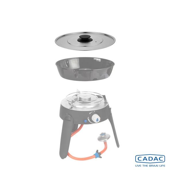 CADAC SAFARI CHEF 2 - Deckel aus Edelstahl
