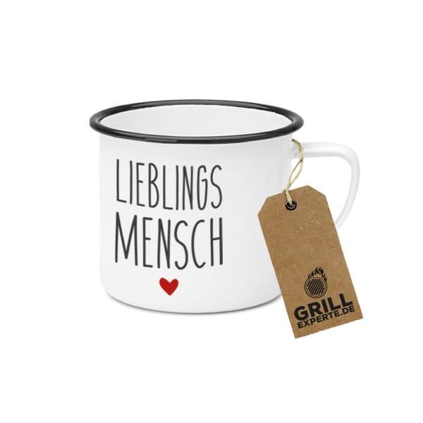 """Metallbecher """"Lieblingsmensch"""" - 400ml Campingbecher"""