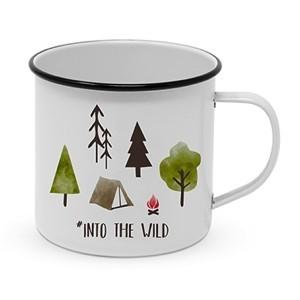 "Metallbecher ""Into The Wild"" - 400ml Campingbecher"