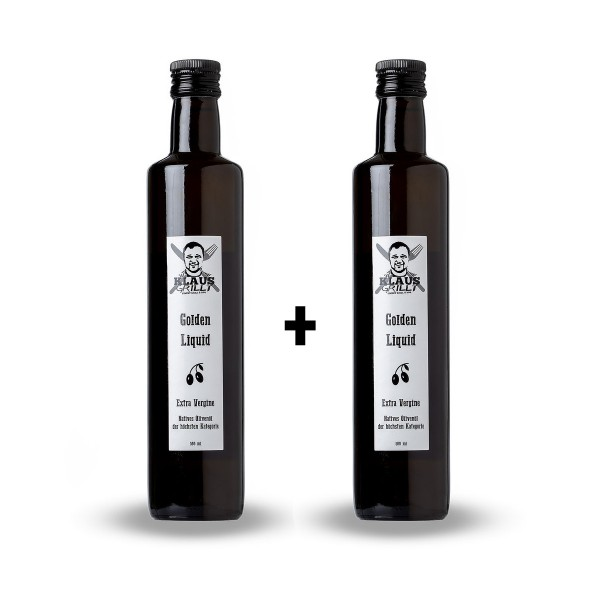 Klaus Grillt Öliven Öl Golden Liquid 500lm - DOPPELPACK = 1 Liter