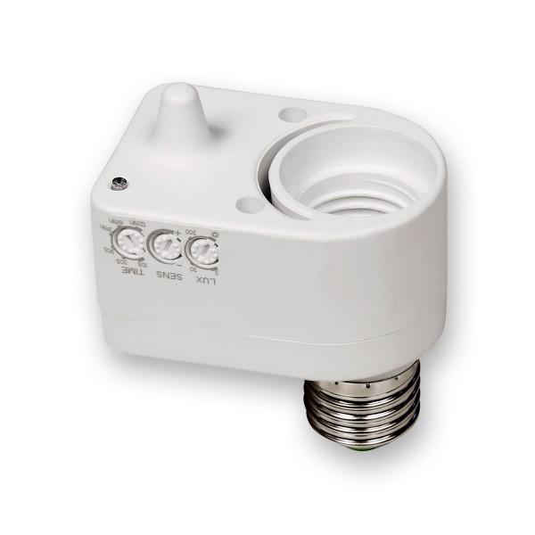 Lampenfassung mit Mikrowellen Bewegungsmelder - 360° - 60W - 5m - auf für LED Leuchtmittel