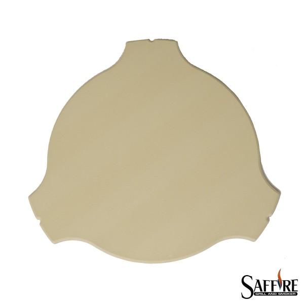 SAFFIRE Deflektorstein für Kamado L (48cm) Keramikgrill - Smoker-Einsatz