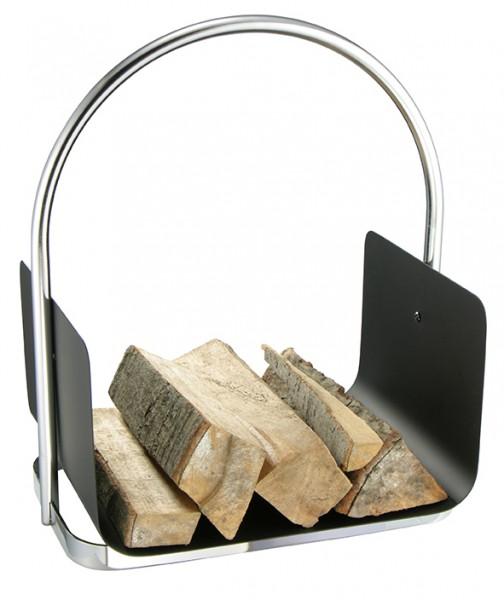 Tragekorb für Kaminholz - 40,5cm Breit - mit stabilem Metallbügel - pulverbeschichtet