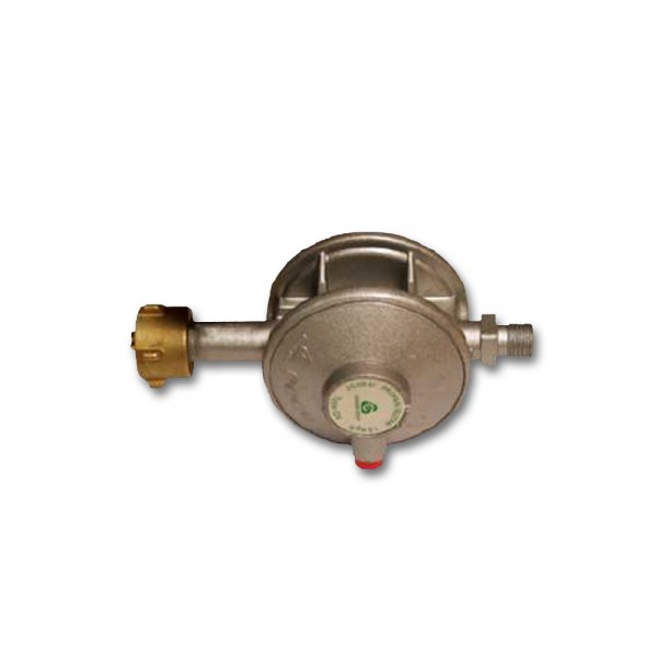 "Gasregler Niederdruck zweistufig 30mbar - 1,5kg/h - KLF x 1/4"" links - FAHRZEUG EN 12864 Annex D"