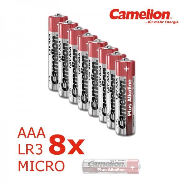 Batterie Mignon AAA LR3 1,5V PLUS Alkaline - Leistung auf Dauer - 8 Stück
