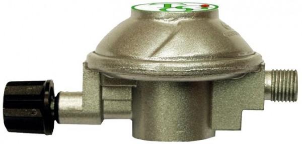 """Gasregler Für Druckgasdosen HP auf 30mbar - 0,6kg/h - 7/16"""" x 1/4"""" links - einstufig - CAMPING"""