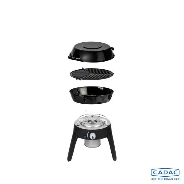 CADAC SAFARI CHEF 2 LITE HP - Kartuschenbetrieb - inkl. Topfständer, Grillrost, Pfanne/Deckel